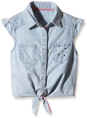 3 Pommes Tie-Up Chambray Shirt
