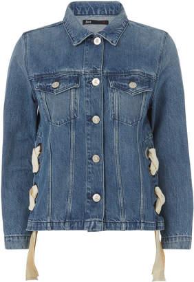 3x1 Hollow Lace-Up Denim Jacket