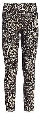 Alice + Olivia Women's Connley High Waist Slim Fit Leopard Print Leggings