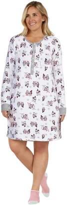 Cuddl Duds Plus Size Enchanted Henley Sleepshirt & Socks Set