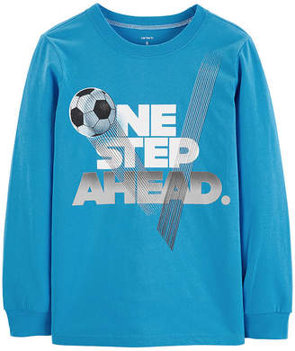 Carter's Sherpa Front Zip Fleece Long Sleeve Round Neck T-Shirt Boys