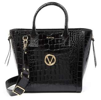 Mario Valentino Valentino By Charmont Croc-Embossed Leather Tote Bag