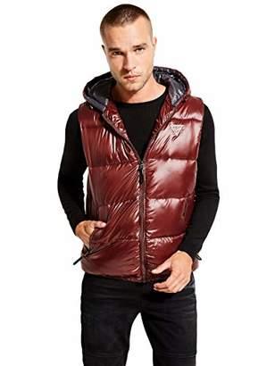 GUESS Men's Logan Hooded Puffer Vest
