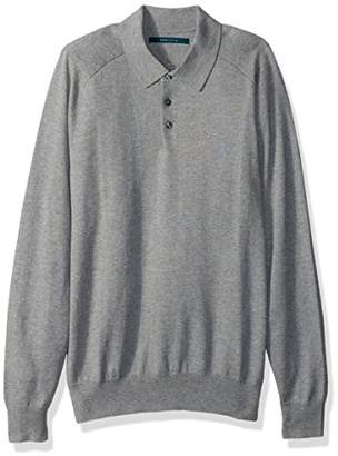 Perry Ellis Men's Solid Polo Sweater