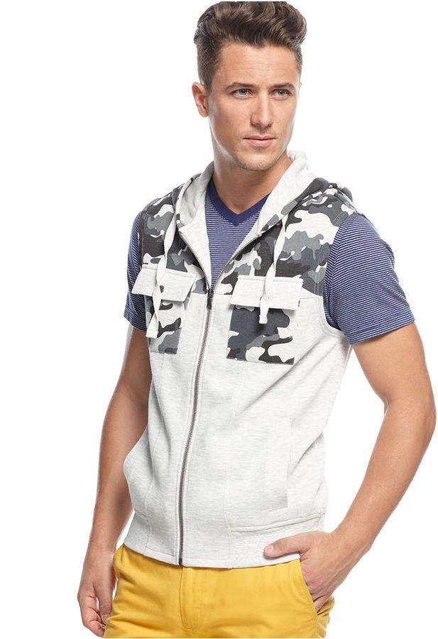 INC International Concepts Vest, Downtown Camo Vest