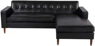 Mid-Century MODERN 808 Home Kardiel Eleanor Leather Right Sectional Chaise Sofa