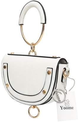 Yoome Tiny Circular Ring Handle HandBag Pouch Bag For Women Chic Bag Crossbody