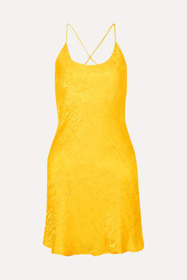 The Line By K - Flynn Crinkled-satin Mini Dress - Yellow