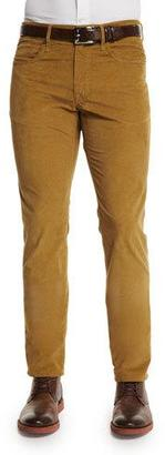Incotex Ray Washed Moleskin Slim-Fit Pants, Gold $325 thestylecure.com
