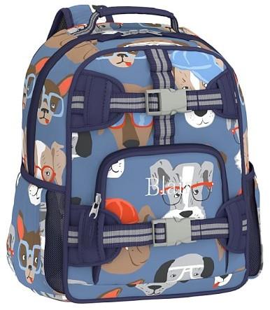 Pre-K Backpack, Mackenzie Cool Dogs Blue