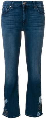 7 For All Mankind flower patch cropped jeans