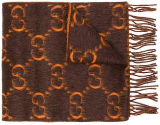 Gucci GG pattern fringed scarf