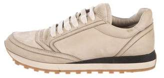 Brunello Cucinelli Monili-Trimmed Suede Sneakers