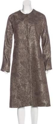 Lela Rose Metallic Long Sleeve Jacket
