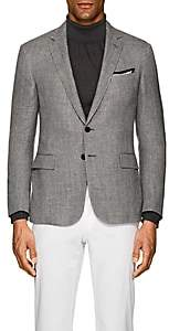 Ralph Lauren Purple Label Men's Nigel Herringbone Linen-Blend Two-Button Sportcoat-Gray