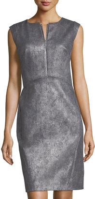 Lafayette 148 New York Zelina Metallic Jacquard Sheath Dress $239 thestylecure.com