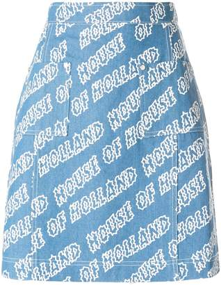 House of Holland printed skirt