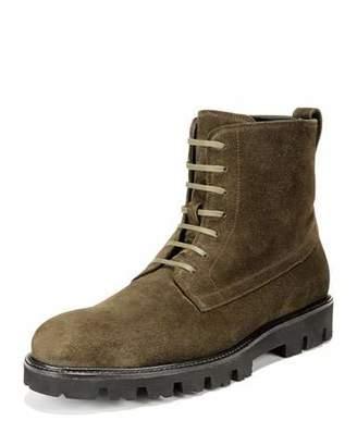 Vince Men's Commander Lace-Up Suede Boots
