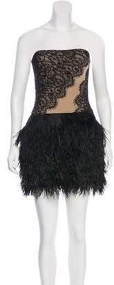 Haute Hippie Strapless Cocktail Dress w/ Tags