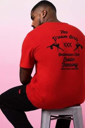 boohoo Big And Tall Valentines Gentleman's Club T-Shirt