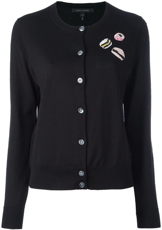 Marc Jacobs Marc Jacobs sequin patch cardigan
