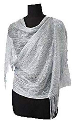 Mystique Fashion Metallic evening party wedding scarf/ stole