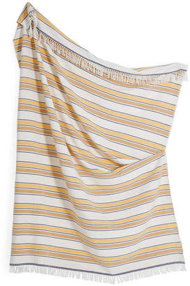 Minna 100% Cotton Gold Stripe Throw