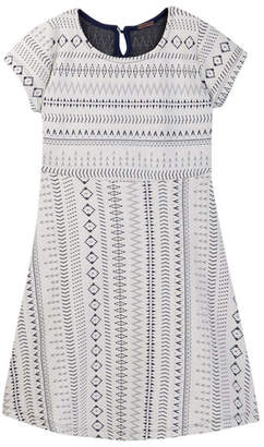 Poof Jacquard Print Skater Dress (Big Girls)