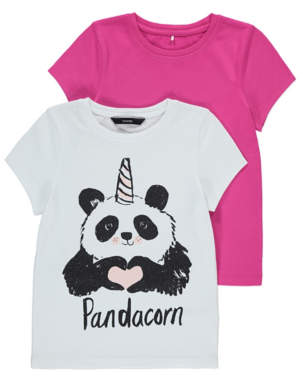 George Assorted Panda Print T-shirts 2 Pack