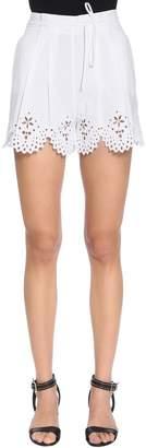Ermanno Scervino Embroidered Cotton Blend Poplin Shorts