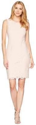Calvin Klein Lazer Sheath Scuba Dress Women's Dress