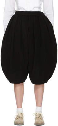 Comme des Garcons Black Voluminous Cropped Box Pleat Trousers