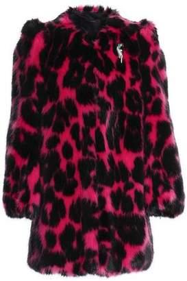 Marc Jacobs Embellished Animal-Print Faux Fur Jacket
