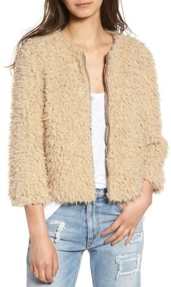 Women's Bb Dakota Macy Faux Fur Jacket $119 thestylecure.com