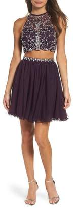 Blondie Nites Embellished Two-Piece Fit & Flare Dress
