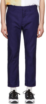 Marni Blue Canvas Trousers