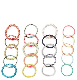 FINEST ACCESSORIES Multi Pony Pop Hair Tie - Pack of 4 $15.97 thestylecure.com