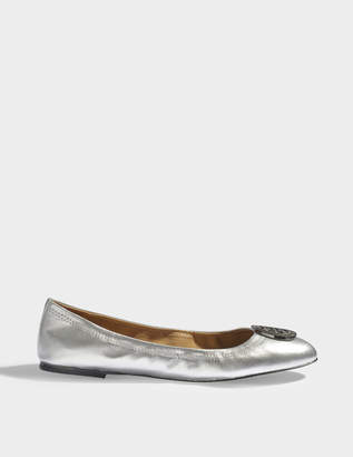 5cc66780054 Tory Burch Liana metallic ballerinas