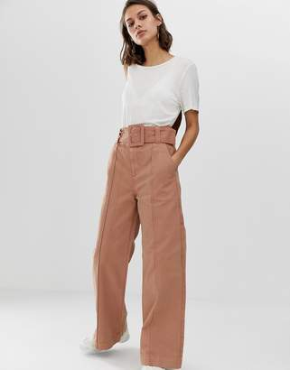Asos wide leg jeans with belt