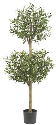 Pottery Barn Faux Potted Olive Double Topiary Tree