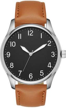 FASHION WATCHES Mens Brown Strap Watch-Fmdjo124