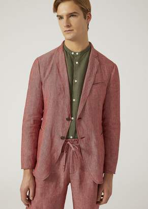Emporio Armani Unlined Pure Linen Jacket