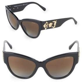 Versace 55MM Butterfly Sunglasses
