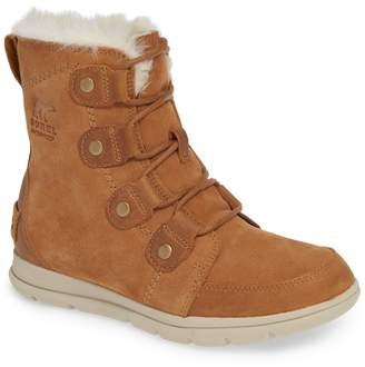 Sorel Explorer Joan Waterproof Boot with Faux Fur Collar