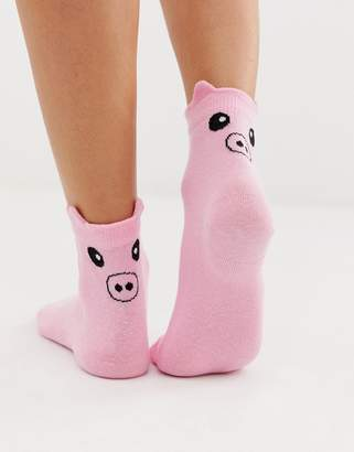 Asos DESIGN pig socks