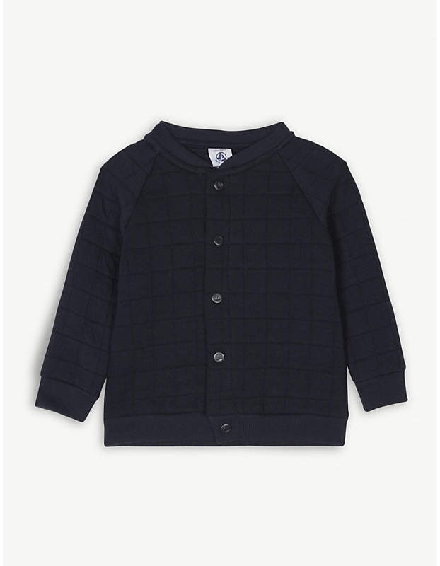 Padded cotton-blend cardigan 3-24 months
