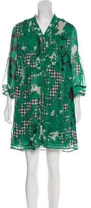 Diane von Furstenberg V-Neck Button-Up Dress