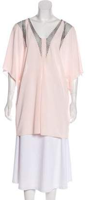 Vionnet Mesh Short Sleeve Top