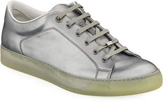 Lanvin Men's Reflective Leather Low-Top Sneakers