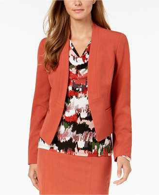 Nine West Kiss-Front Collarless Jacket